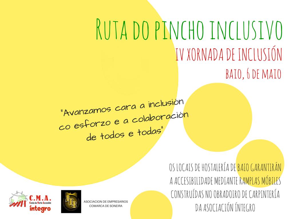 A Asociación Íntegro e a hostalería de Baio avanzan cara a accesibilidade universal coa Ruta do Pincho Inclusivo