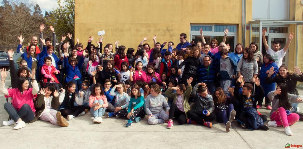 Estudantes de primaria e secundaria do CPI Cabo da Area de Laxe achéganse á diversidade con Íntegro