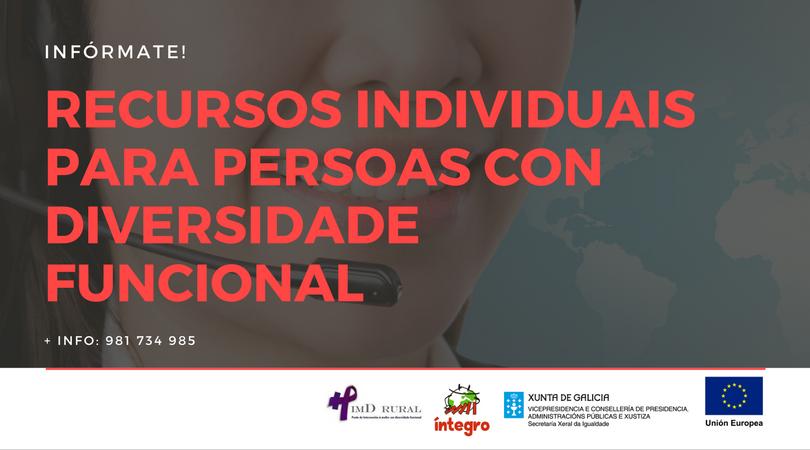 Íntegro ofrece un servizo de asesoramento sobre recursos individuais en materia de diversidade funcional